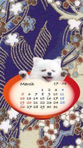 2017年3月携帯壁紙カレンダー